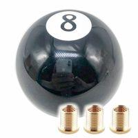 Negro 8 Ocho Vintage Pool Ball Ball Ball Gear Knob Mudón de cambios universal Cabeza de palanca