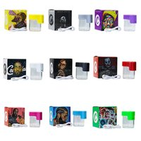 Cookies Glow Jar LED Storage Can Stash 155ml Magnifying Empty bottleS Container with Colorful Newest Package USB Rechargeable BANG XXL XL VAPE VS E-cigarette
