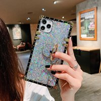 Glue sequins luxury designer show box phone cases with ring holder for iPhone 12 11 pro promax X XS XSMAX 7 8 Plus