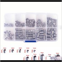 Tool Parts Tools Home & Garden Drop Delivery 2021 M3-M8 200Pcs Stainless Steel Hex Socket Set Screw Grub Screws Cup Kit With Plastic Box Yqg1
