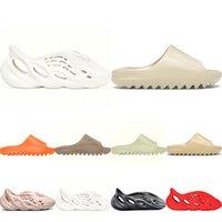 Kanye sandalias oeste zapatos moda zapatillas desierto arena resina tierra marrón plataforma de verano sandale espuma corredor triple negro hueso blanco zapatillas zapatillas
