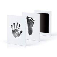 Niet-giftige baby handafdruk voetafdruk afdruk kit gieten ouder-kind hand inktpad hand-voet stempel pad baby keepsakes speelgoed 6 kleuren