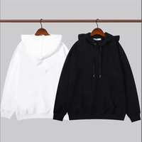 Fashion Paris Fall 2021 2 Colors Mix and match Men's high-quality Hoodie designer Women's Hoodies With a loose comfortable personality