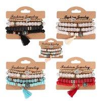 4 ШТ. / Лот Ретро Браслет Простота Bodhi Beads Цепные браслеты Модные кисточки Catenary Ювелирные украшения Спокойные и устойчивые 5xy Y2