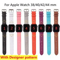 Designer watchband for Apple watch band 38mm 40mm 42mm 44mm iwatch 5 4 3 2 Series bands luxury PU leather Straps bracelet fashion letter printed watchbands
