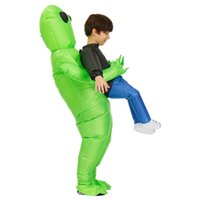 Cosplay Anime Inflatable Costume Green Alien Adult Kids Funny Blow Up Suit Party Fancy Dress Halloween Y0913