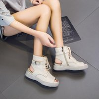 Boots Tilocow Platform Genuine Leather Women's Designers Women Peep Toe Sandals Woman Flat With Sports Slides Female Shoe