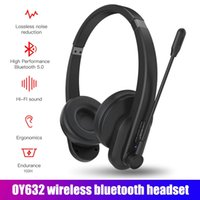 Wireless Bluetooth Headphones with Microphone Headset Noise Cancelling Head-mounted Headphone for Phones PC Home Office 2 Colors