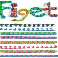 24 Links Wacky Tracks Snake Puzzle Snap And Click Sensory Fidget Toys Anxiety Stress Relief ADHD Needs Educational Party Keeps Fingers Busy 8 Colors H415UOL