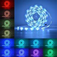 LED STRUP LLGT STRIPS 16.4FT 32.8FT 50FT 66FT 5M 10M 15M 20M RGB 5050 ضوء ذكي مع تحكم