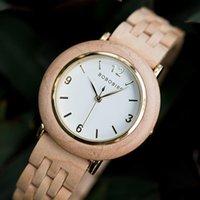 Saatı Bobo Kuş Ahşap İzle Kadınlar Basit Bayanlar Kuvars Kol El Yapımı Kadın Saatler Onun Hediyeleri Saat Wooge Box Zegarek Damski