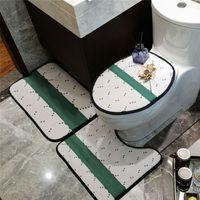 Verschiedene Stile Mode Ankünfte 3 stücke Badematten No-Rutsch Brief Muster Toilette Teppich Anti-Skid Universal Hochwertiger Sitzbezug Türmatte Großhandel