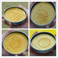 50%off Squid Game Sugar Honeycomb Mold Cake Biscuit Mold 4-Piece Set Full Kit Dalgona Candy Recipe Round Pentagonal Star Umbrella-shaped