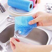 Atacado- 1 Rolo Cozinha Descartável Não-tecido Tecidos Lavando Limpeza Toalhas de Pano Eco Friendly Friendly Rags Wiping Pad HD0065 365 R2 MQHU