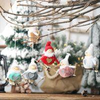 Christmas Home Decor Cute Angel Ski Dolls Navidad Hanging Pendant Xmas Tree Ornament New Year Gifts for Kids HWB10598