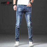 Jantour Marque Skinny Jeans Hommes Fit Denim Joggers Joggers Stretch Male Crayon Pantalon Crayon Blue Hommes Jeans Mode Casual Hombre Nouveau