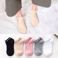 New Fashion Summer Fashion Female Socks Womens Silver Silk Pearl Socks Ladies Crystal Short Socks Thin Crystal Warm