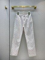 Milano Pist Jeans 2021 Sonbahar Moda Tasarımcısı Geniş Bacak Marka Aynı Stil Lüks Kadın Giyim 0729-9