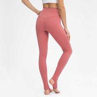 Trajes de yoga Mujeres de longitud de longitud completa Gimnasia con bolsillo oculto Leggings de estribo de danza retro medias apretadas de cintura alta sobre los pantalones de yoga del talón