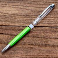 هدية الكتابة diy أنبوب فارغة حبر جافت أقلام ملء الذاتي بريق المجففة زهرة الكريستال القلم قلم رصيف 27 اللون 303 r2