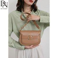 Evening Bags DN Vintage Shoulder For Women Crossbody Bag Fashion Women's 2021 Trend Female Brown Saddle Chain Underarm