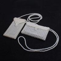 Retro Handmade Pearl Messenger Bag Mini Designer Handbag Shoulder Bag Girls Lady Kids Elegant Ins Coin Purses HHA725