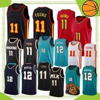 Ja 12 Morant College Баскетбольная майки с баскетболом Zion Trae 1 Williamson 11 Молодые 23 Сток S-XXL 2021 New CamiSetas de Baloncesto