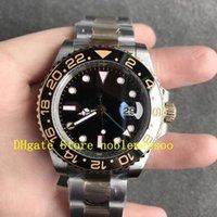 Super N Factory 904L orologio automatico reale avvolto in oro 18 carati in oro mai dissolto maschile cal.3186 movimento 116713Ln vetro zaffiro in ceramica GMT 116713 Orologi da uomo Noobf