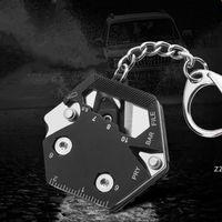متعددة الوظائف سلسلة مفتاح، طوي سداسية كيت- مايكرو برغي سائق، فتاحة زجاجات، أدوات EDC الأسلاك القاطع التخييم أدوات البقاء على قيد الحياة HWF7465
