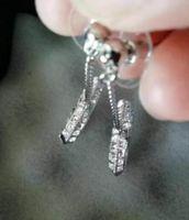 패션 다이아몬드 귀걸이 aretes 레이디 여성 파티 웨딩 애호가 선물 약혼 보석 상자와 신부 상자