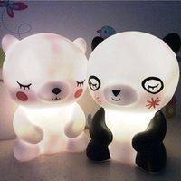 곰 팬더 LED 야간 램프 귀여운 동물 만화 야간 아기 보육에 대 한 Nightroom 침실 거실 장식