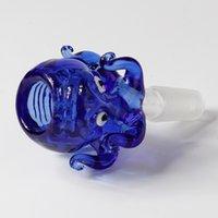 14mm 18mm Schüssel Glas Octopus Stil Dicke Pyrex Glasschüsseln mit bunten blauen Tabakkraut Wasser Bong Bowl Stück Für Rauchen 474 S2