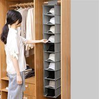 Storage Boxes & Bins 10 Layers Hanging Bag Closet Organizer Wardrobe Clothes Door Pocket Shoes