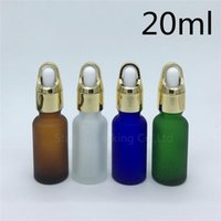 Travel Bottle 10pcs 20ml Amber Green Blue Transparent Frosted Glass Essential Oil Bottle,20cc Perfume Dropper Storage Bottles & Jars