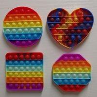 الحسية تململ فقاعة لعبة دفع إصبع متعة لعبة ضغط الكرات لغز rainbow كامو الإجهاد الإغاثة adhd القلب دائرة مربع الشكل G31604