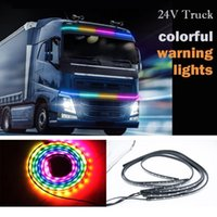 Interioorexternal Lights 24V 7COLOR Светодиодный мигающий RGB грузовик окружающий свет крыши бампер дверной лампы декоративные полосы грузовика