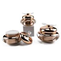 Бутылки для хранения JARS 15G 30G 50G пополняемая акриловая конька для лица банка Высококлассные косметические контейнеры розовый золотой макияж Eyeshadow