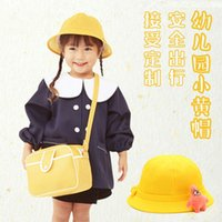 Anaokulu öğrencileri ilkbahar ve sonbahar örgü çocuk küçük sarı bebek güneş kremi ebeveyn çocuk havzası şapka