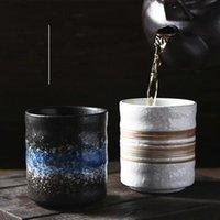 أكواب النمط الياباني كوب الشاي السيراميك لاتيه القهوة القدح المنزلية تكويم ساك شوشو ماتشا البيرة الزجاج
