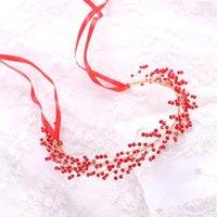Hair Clips & Barrettes Women Bridal Jewelry Accessories Wedding Headdress Vintage Handmade Crystal Beads Hairpins Ribbon Headband