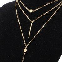 المثالي المرأة المألوف متعدد الطبقات سلسلة قلادة مطلية بالذهب الصيف سحر المختنق قلادة للنساء مجوهرات 146 r2