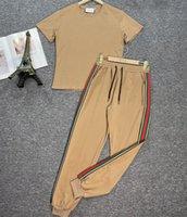Designer Summer WomensSwear Sportswear Femmes Usance Sexy Short Sleeve Yoga Set Souffenu Tricot Tricoté Femmes Tracksuit Loisirs Coton Deux Pièce Jogging Cuissures