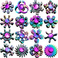 Wholesale Rainbow Hand Spinner Fidget Lotus Stress Relief Anxiety Toys