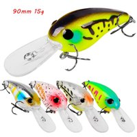 5 Color Mixed 90mm 15g Crank Hard Baits & Lures Fishing Hooks 6# Treble Hook Pesca Tackle Accessories WA_655