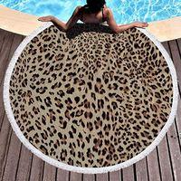 Redondo Toalha de Beach Cobertor Círculo Microfiber Yoga Tapete Toalhas multiuso para mulheres homens crianças com borlas 59 polegadas hhd8657