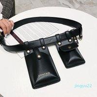Sacos de cintura de desenhista 202 Cinto de couro para mulheres moda do ombro mensageiro bag bag fanny pacotes PUSKS Saco de chave móvel