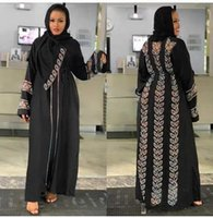 Style African Dashiki Abaya Muslim Robe Fashion Drill Net Fabric Stretch With Scarf Long Dress Free Size Ethnic Clothing