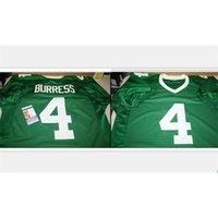 Kundenspezifische Bucht Jugendfrauen Vintage Michigan State Spartans Plaxico-Burresse # 4 Fußball-Jersey-Größe S-5XL oder benutzerdefinierte Name oder Nummer Jersey
