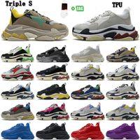 2021 Balenciaga Triples cushion old shoes [IN Stock] 트리플 S 17FW 패션 남성 여성 아빠 신발 트리플러 Bigsized 스니커 즈 플랫폼 솔 레트로 스카프 여성 망 Zapatillas 36-45