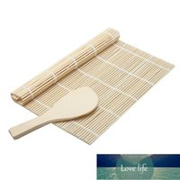 Strumenti Sushi Rolling Roller Rullo Bamboo Materiale Maker Maker FAI DA TE e una pagaia di riso Non-Sust Sushi Sushi Sushi Strumenti da cucina Tappetino da cucina